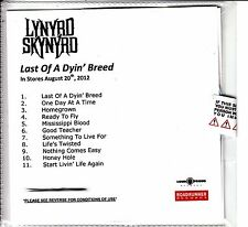 LYNYRD SKYNYRD Last Of A Dyin' Breed UK numbered 11-track promo test CD SEALED