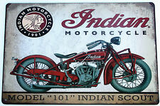 INDIAN MOTO METAL LATA LETREROS vintage café bar pub garaje decoración