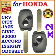 Honda Accord/CRV/Civic/City/Jazz/Odyssey/S2000 Two Button Key Remote Shell