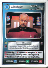 STAR TREK CCG DOMINION WHITE BORDER PREVIEW CARD ADMIRAL RIKER