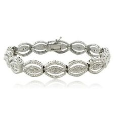 0.25ct TDW Natural Diamond Intertwining Infinity Bracelet