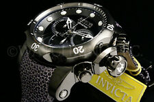 Invicta Men Reserve 52MMCobra Venom Swiss Made Chrono Dial S.S Leather Watch New