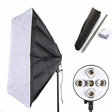 60 x 90cm Studio Softbox +E27 5 in 1 Socket Photo Light Lamp Bulb Bracket Holder
