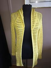 Charlie And Robin Anthropologie Yellow Long Open Front Sweater M