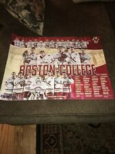 BOSTON COLLEGE EAGLES HOCKEY TEAM 2016-17 SCHEDULE POSTER NCAA