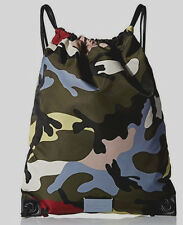 "VALENTINO GARAVANI Techno Backpack / Drawstring Bag COLOR-CAMO New 16.5"" x 13.5"""