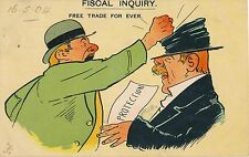 POSTCARD   COMIC  / POLITICAL  SATIRE    Fiscal  Inquiry  Free Trade for ever