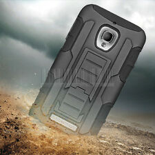 Armor Rugged Hybrid Holster Case Cover For Alcatel One Touch Fierce 7024W+Film