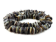 Square Cut Blacklip Shell Beads (16 Inches Strand)