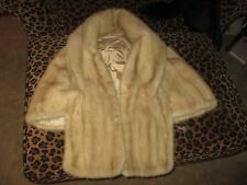 PRETTY VINTAGE BLOND GENUINE MINK SHAWL WRAP LQQK!!