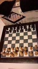 Hand Carved Chess Set, Vinyl Board Cloth Draw String Bags for pieces with box