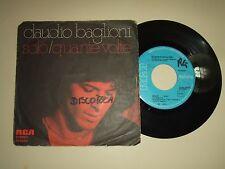 """Claudio Baglioni–Solo / Quante Volte–Disco Vinile 45 Giri 7"""" Stampa Italia 1977"""