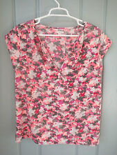 GAP Women's Pink Camouflage Cap Sleeve Pullover Top Size M NWOT