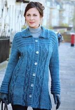 Knitting Pattern For Ladies Jacket. To Fit 33-49