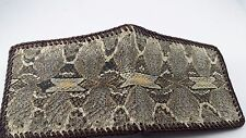 Real Pit Viper Snake Skin with head Handmade laced wallet with removable ID case