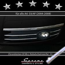AUDI A6 C6 4F 04-08 - 3M Chrom-Zierleisten für Kühlergrill Nebelscheinwerfer