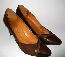 Vintage JB MARTIN Paris 5 45 Semelle Cuir Brown leather Suede Classic Pumps Heel