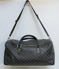 Louis Vuitton Roadster 50 Duffle Bag Damier Graphite Travel Bag 100% Authentic