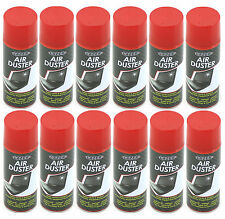 12 x 400ml Compressed Air Duster Spray Can Cleans Protects Laptops Keyboards etc