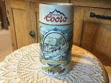 1992 COORS ROCKY MOUNTAIN LEGEND STEIN, Kayaker
