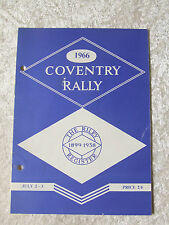 RILEY 1966 COVENTRY RALLY 11 TH ELEVENTH OFFICIAL PROGRAMME