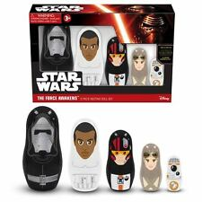 STAR WARS THE FORCE AWAKENS 5 PIECE NESTING DOLL SET - FINN, KYLO REN, BB-8, POE