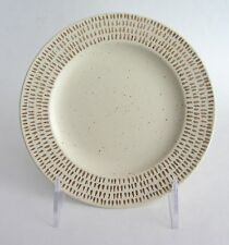CALVIN KLEIN COLLECTION Gold Fleck DESSERT Plate Set 4 Porcelain w. Gold Detail