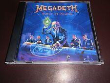 MEGADETH - RUST IN PEACE - CD (1990 / U.K.  ORIGINAL)