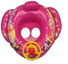 Baby Kids Inflatable Steering Wheel Ring Disney Pink Princesses Swimming Floater