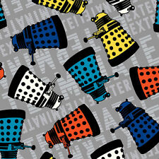 Dr Who Daleks Springs Creative Quilt Fabric by the 1/2 yard Dalek Toss