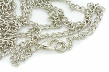 (3) 31in 80cm Necklace Chain w/ lobster claw & O-ring Silver Chain Vintage Style