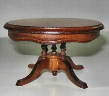 WALNUT ROUND DINING ROOM TABLE DOLLHOUSE FURNITURE MINIATURES