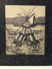 TONY ROYALS: PRINT ART BY MOUTH:LITHOGRAPH-1-NATIVE AMERICAN SCENERY & FREE CD