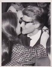 YVES ST. LAURENT Kisses Model Fashion Show Paris VINTAGE 1963 press photo!!