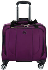Delsey Helium Cruise Spinner Trolley Tote Carry On Luggage - Purple