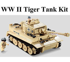 German Panzer Tiger Tank c/w Army Figures Compatible Building Brick 995pcs D Box