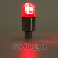 2x Car Bike Tire Tyre Wheel Valve Cap Alarm LED Flash Neon Light Lamp Red