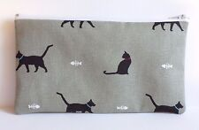 Sophie Allport Cat Fabric Handmade Make Up Bag Pencil Case Storage Pouch