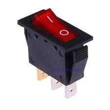 Interruptor Basculante 12V Rojo Iluminado 34x16mm 3-polos con Luz Bipolare