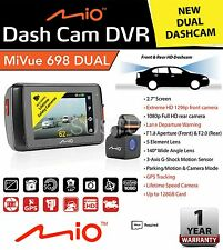 "MIO MIVUE 698 Dual 2.7"" DVR Front & Rear 1080p HD GPS DashCam Accident Recorder"