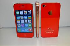 iPhone 4-8GB (Gsm Unlocked) Custom Red  Straight talk Metro Pcs Cricket