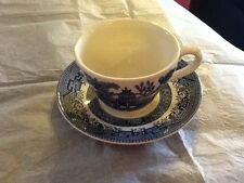 Churchill england blue willow tasse & soucoupe