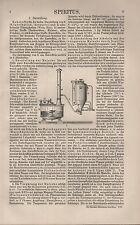 Lithografie 1907: Spiritus. Maische Gärung Raffinerien