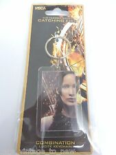 NEW KATNISS & QUOTE COMBINATION LUCITE KEYCHAIN Hunger Games Catching Fire NECA