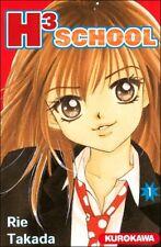 Collection complète de mangas H3 School en français - Tomes 1 à 5 - Kurokawa
