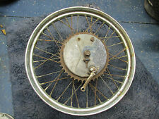 TRIUMPH PRE BONNEVILLE TROPHY T120 NORTON MATCHLESS AJS REAR WHEEL