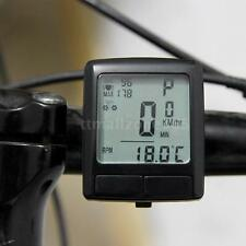 LCD Bike Bicycle Cycling Computer Odometer & Wireless Heart Rate Monitor Tester