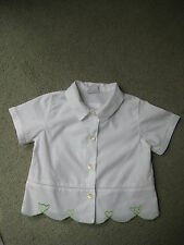 Oilily white cotton short sleeved girl's blouse, Continental size 74