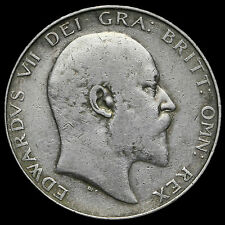 1906 Edward VII Silver Half Crown – GF