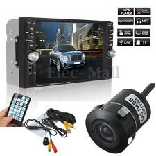 6.6''Touch 2DIN Car Radio Stereo Bluetooth FM/Remote Head Unit MP5 Player+Camera